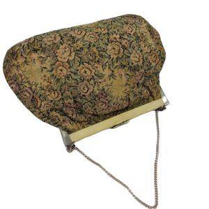 Vintage carpet floral print purse bag